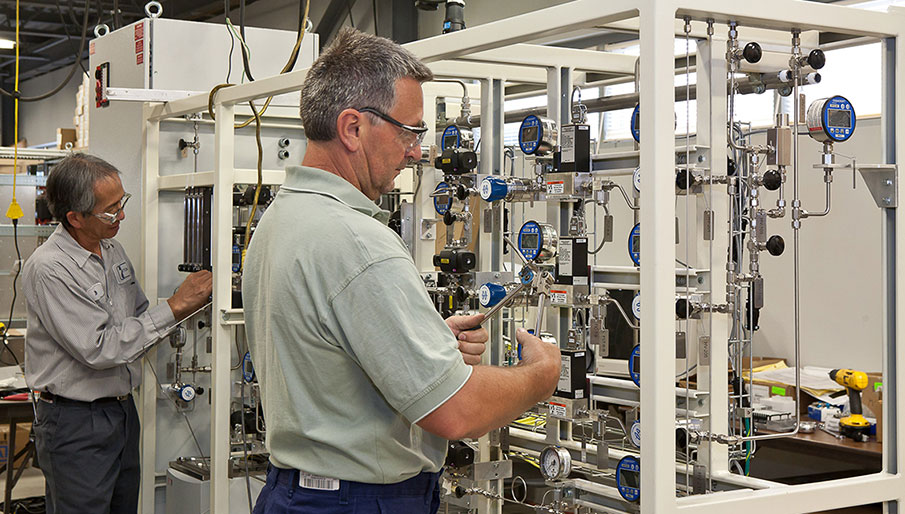 Tubing Installation in a Pilot Plant (Photo Courtesy Of Ryder Photography)